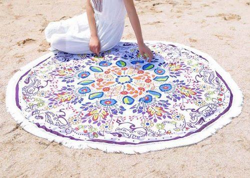 Пляжная подстилка Мандала